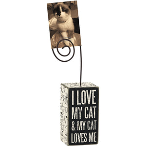 Funny Gifts for Cat People, I Love My Cat Picture Holder