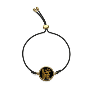 Cat and Dog Jewelry, I Love Paw Prints Gold Plated Cord Bracelet
