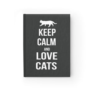 Unique Gifts for Cat Lovers, Cat Diary Featuring the Phrase Keep Calm and Love Cats