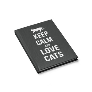 Presents for Cat Lovers, Cat Journal Featuring the Phrase Keep Calm and Love Cats