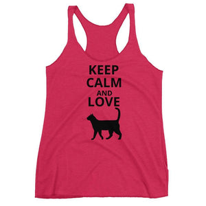 Cat Gifts for Women, Cat Lady Gifts, Keep Calm and Love Cats Tank Top