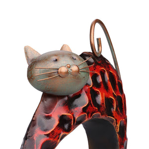 Cat Themed Gifts, Lazy Cat Metal Figurine