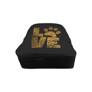 Unique Gifts for Cat Lovers, Cat Gifts for Her, Cute Paw Print Backpack Featuring the Word Love and a Paw Print