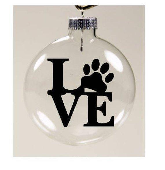 Cat Christmas Tree Decorations, Cat Ornament Decorated with the Word