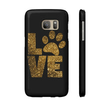 Load image into Gallery viewer, Cat themed phone case, Love Paw Prints Phone Case