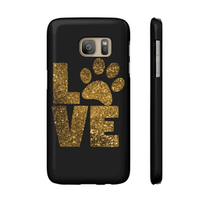 Cat themed phone case, Love Paw Prints Phone Case