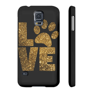 Cat themed accessories for cat lovers, Love Paw Prints Phone Case