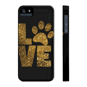 Cute phone case for pet owners, Love Paw Prints Phone Case