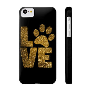 Phone case for cat lovers, Love Paw Prints Phone Case