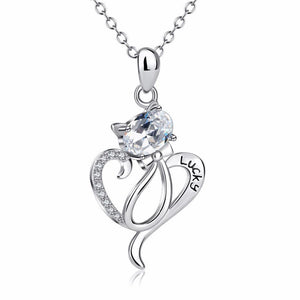 Cat Jewelry, Lucky Cat Necklace