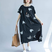Load image into Gallery viewer, Maxi Black Cat Dress for Cat Lovers