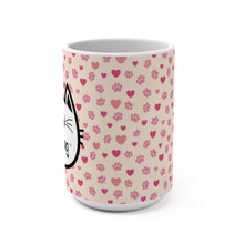 Load image into Gallery viewer, Cat Lover Mug Decorated with a Colorful Paw Print