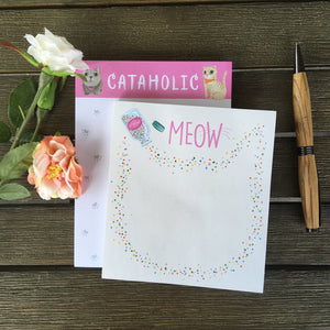 Cat Lover Notepad Featuring Four Different Cat Themed Notepad Designs