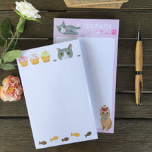 Load image into Gallery viewer, Cute Cat Themed Gifts for Her, Cat Themed Notepad Set of 4