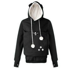 Load image into Gallery viewer, Clothes for Cat Lovers, Mewgaroo Pet Holder Fleece Hoodie