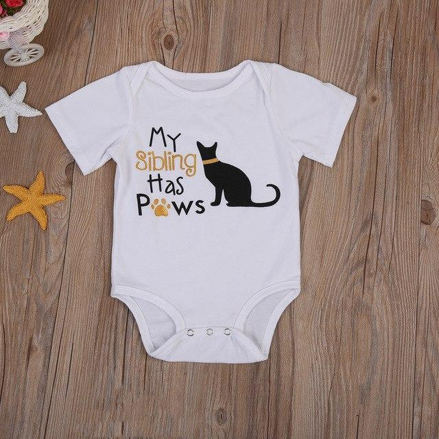 Kids cat onesie featuring the ext