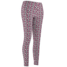 Load image into Gallery viewer, Cat Leggings, Cute Paw Print Leggings decorated with Blue and Pink Paw Prints