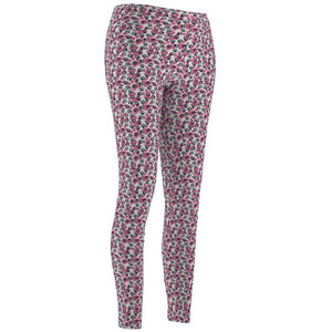 Cat Leggings, Cute Paw Print Leggings decorated with Blue and Pink Paw Prints
