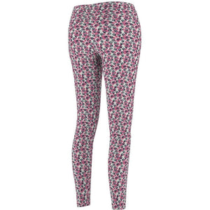Clothes for Cat Ladies, Cute Cat Leggings Featuring Pink and Blue Paws Printed On a Stretchy White Fabric