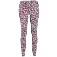 Load image into Gallery viewer, Cute Things for Cat Lovers, Paw Print Leggings with Blue and Pink Paws Printed On a White Fabric