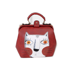 Cat themed bag, Picasso Cat Satchel Bag