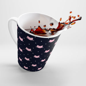 Cool Gifts for Cat Lovers, Cat Themed Kitchen Decor, Cat Coffee Mug with Pink Cat Faces