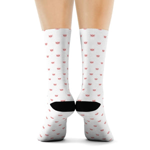 Gifts for Cat Lovers, Cute Cat Socks for Women Featuring a Pink Cat Print