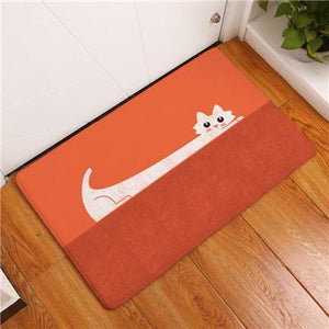 Cat Themed Gifts, Cat Printed Floor Mat