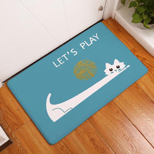 Playful Cat Floor Mat