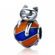 Load image into Gallery viewer, Cat Jewelry, Playful Kitten Charm