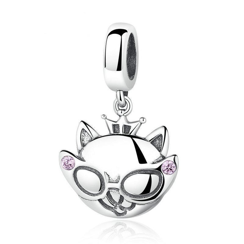 Cat Themed Jewelry, Princess Cat Charm