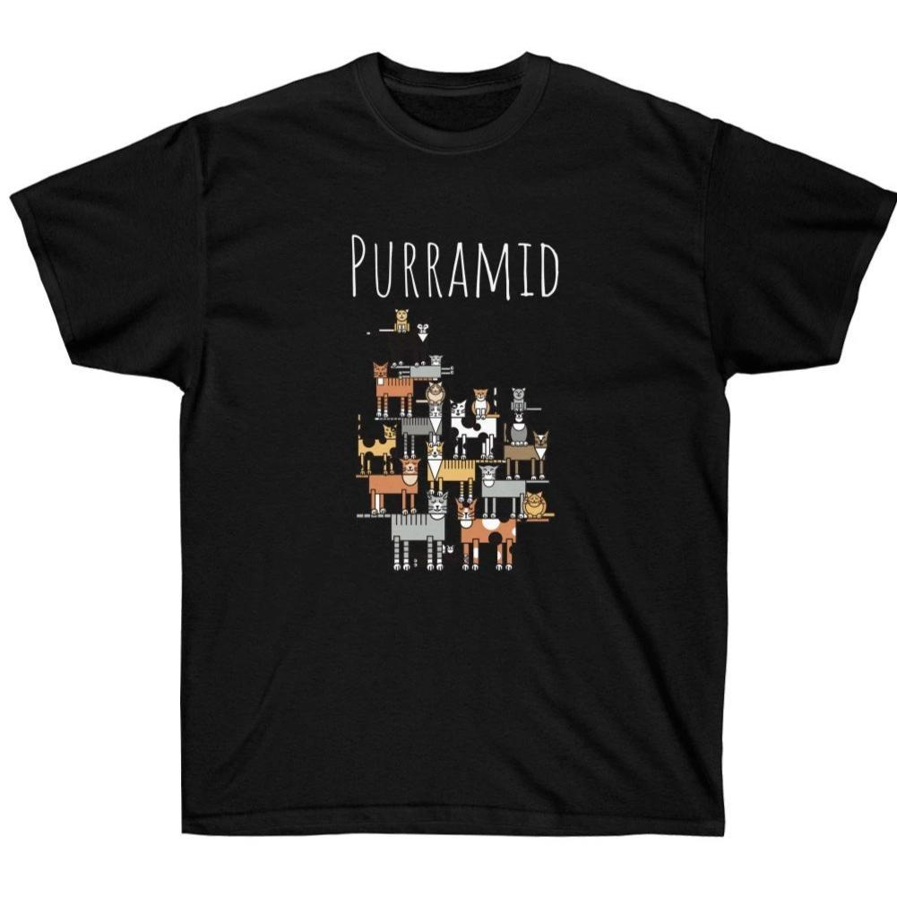 Funny Cat shirts for Guys, Purramid Cat Shirt