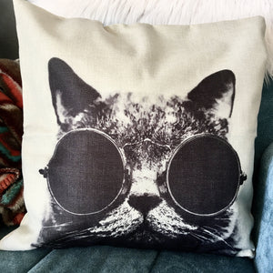 Rockstar Cat Pillow Case