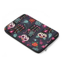 Load image into Gallery viewer, Cat Themed Things for Cat Lovers, Cat Laptop Bag Printed with Colorful Skeleton Cats