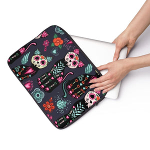 Cat Gifts for Cat Lovers, Unique Cat Laptop Bag Printed with Skeleton Cats