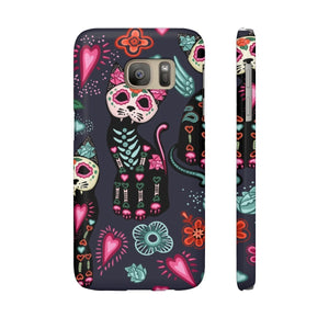 Cat themed accessories for cat lovers, Skeleton Cat Phone Case