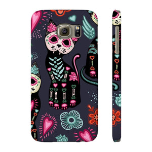 Skeleton Cat Phone Case