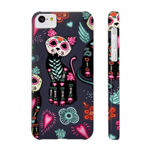 Load image into Gallery viewer, Cat themed phone cases, Skeleton Cat Phone Case