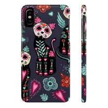 Load image into Gallery viewer, Phone cases with cats, Skeleton Cat Phone Case