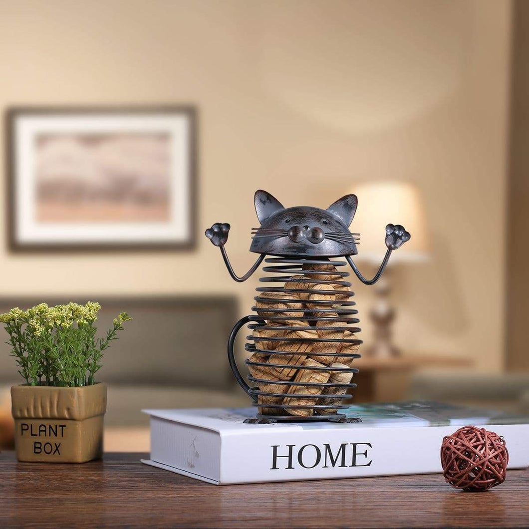 Cat Gifts for Him, Spring Cat Cork Container