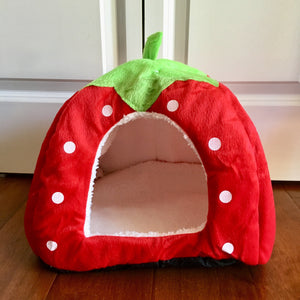 Kitten Toys and Accessories, Cute Cat Bed In the Shape of a Strawberry