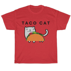 Funny Shirt with a Taco Cat Printed On the Front