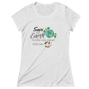 Cat Lover T-Shirt Featuring the Words Save The Earth It's The Only Planet with Cats Printed On the Front