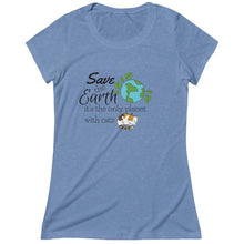 Load image into Gallery viewer, Cat Themed Appare;, Funny Cat Lover T-Shirt With The Words Save The Earth It's The Only Planet With Cats Printed On The Front