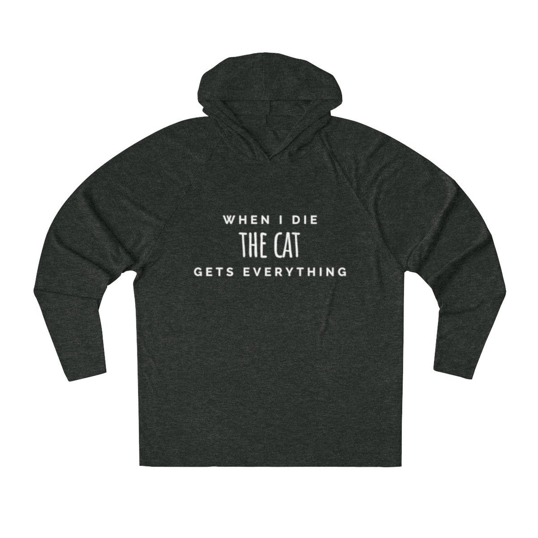 When I Die The Cat Gets Everything Men's Hooded Sweatshirt