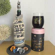 Load image into Gallery viewer, Wine Loving Cat Lover Gift Set