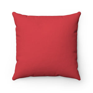This Decorative Cat Pillow Is Made Of Soft Red Fabric