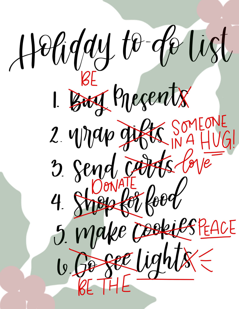 My Holiday To-Do List