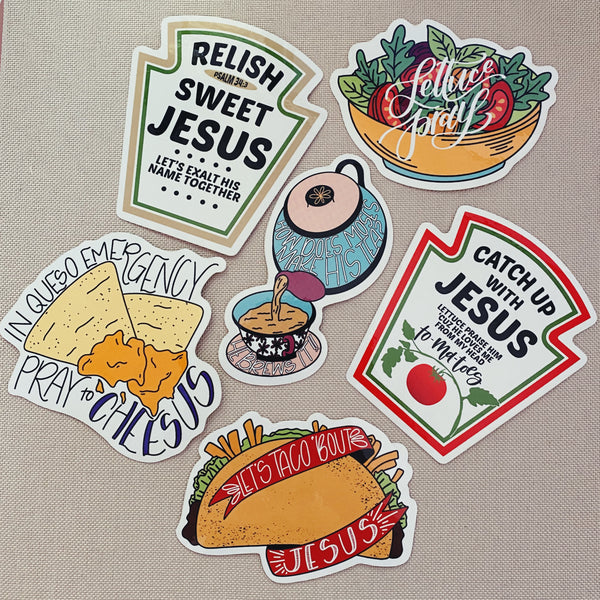 Jesus Food Puns Collection (6 pack) - Bibles and Coffee