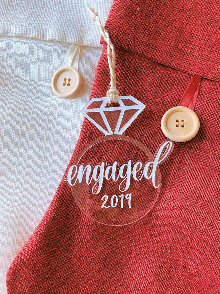 Engaged Acrylic Ornament